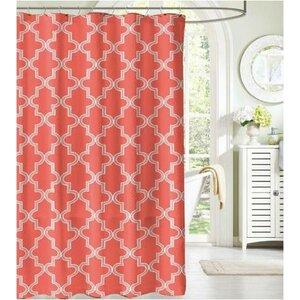 Ehmann Bath Mosaico Fabric Shower Curtain