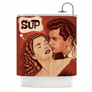 'Yo Sup' Pop Art Single Shower Curtain