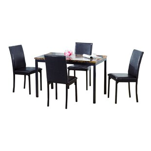 Della 5 Piece Dining Set Ebern Designs