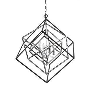 Brayden Studio Pederson 4-Light Geometric Chandelier