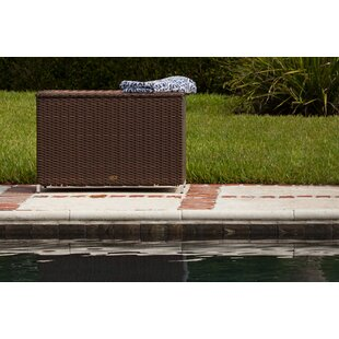 PatioSense Hayden 58 Gallons Wicker Deck Box