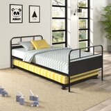 Ackermann Twin Metal Daybed with Trundle by 17 Stories