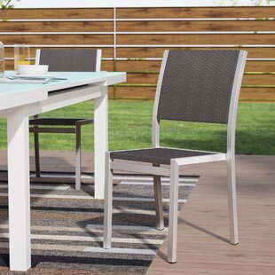 Pegasus Stacking Patio Dining Chair (Set Of 2) by Mercury Row New