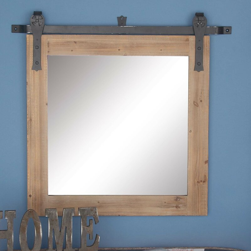 Rectangular Wall Mirror cole & grey wood/metal wall mirror & reviews | wayfair