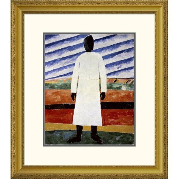 Global Gallery Farmer By Kazimir Malevich Framed Graphic Art Wayfair