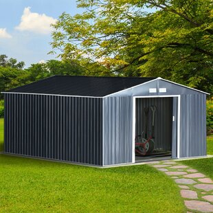 11 Ft. W X 13 Ft. D Apex Metal Shed By WFX Utility