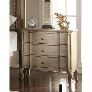 Aubree 3 Drawer Nightstand