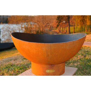 Scallop Steel Wood Burning Fire Pit By Fire Pit Art