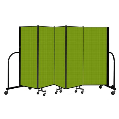 Freestanding 5 Panel Room Divider ScreenFlex Color: Apple Green, Height: 60""