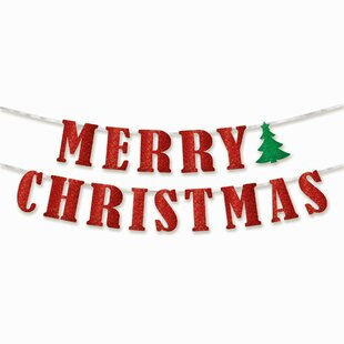 merry christmas banner wayfair
