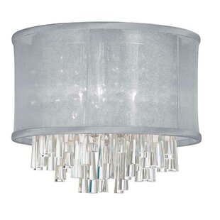 Everly Quinn Phebe 4-Light LED Crystal Flush Mount
