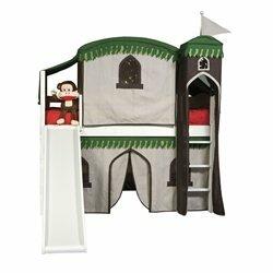 Bonneau Twin Low Loft Bed with Slide