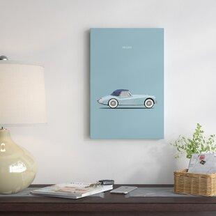 'Jaguar XK140' Graphic Art Print on Canvas ByEast Urban Home