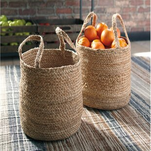 Searching for Jute Basket (Set of 2) By August Grove