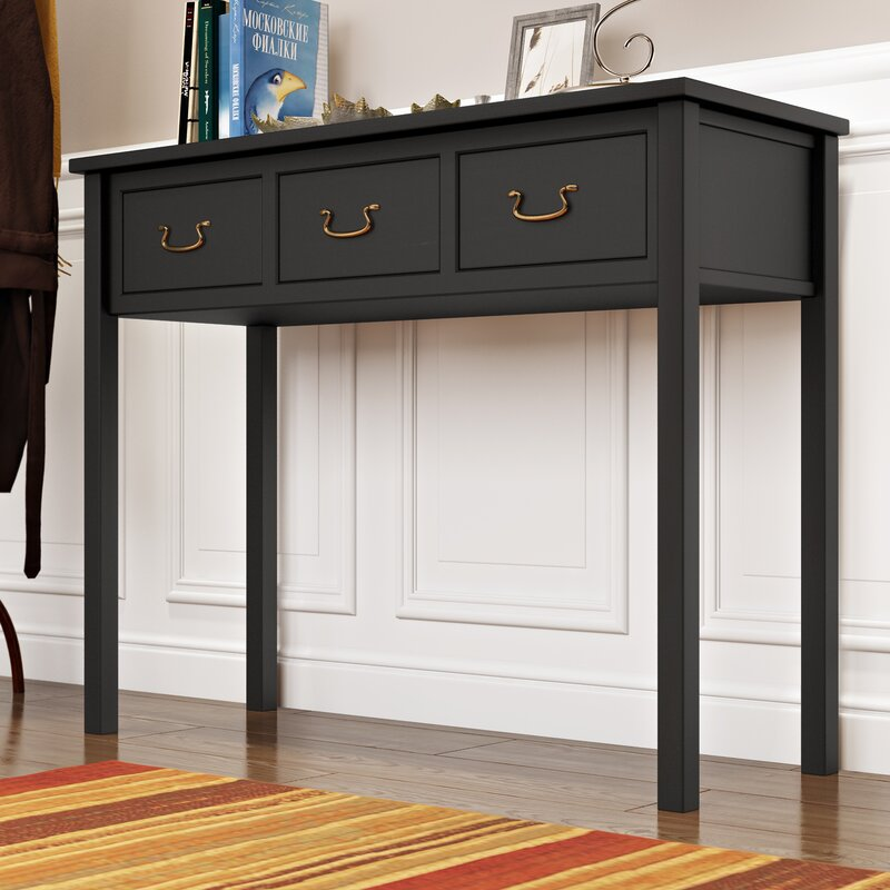 """Andover Mills Kenzo 39.4"""" Solid Wood Console Table ..."""