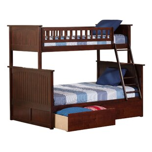Best Price Abbie Twin Over Full Standard Bed with Drawers by Harriet Bee Reviews (2019) & Buyer's Guide