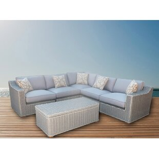 Rosecliff Heights Eastlawn 6 Piece Sectional Set with Cushions
