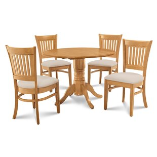 Chesterton Transitional 5 Piece Drop Leaf Dining Set By Alcott Hill Cheap