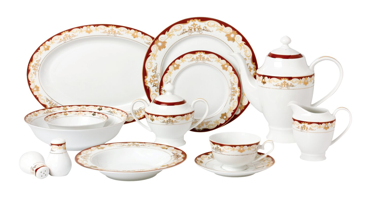la luna bone china 57 piece dinnerware set service for 8