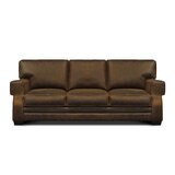 Bearup Genuine Leather 90'' Square Arm Sofa by Williston Forge