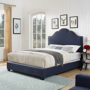 Benedict Camelback Upholstered Panel Bed