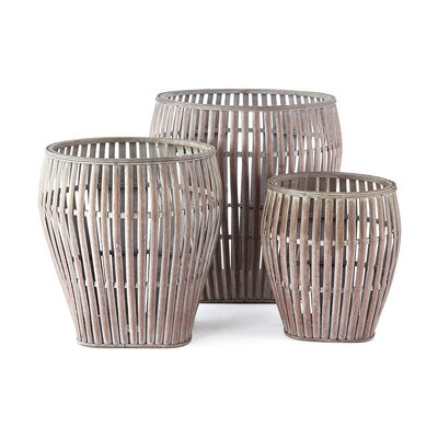 Breakwater Bay Bamboo 3 Piece Basket Set Color: Gray wash