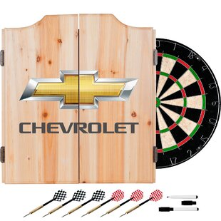 Chevrolet Dartboard and Cabinet Set By Trademark Global