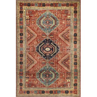 One-of-a-Kind Sheen Hand Woven Wool Rust Area Rug by Isabelline