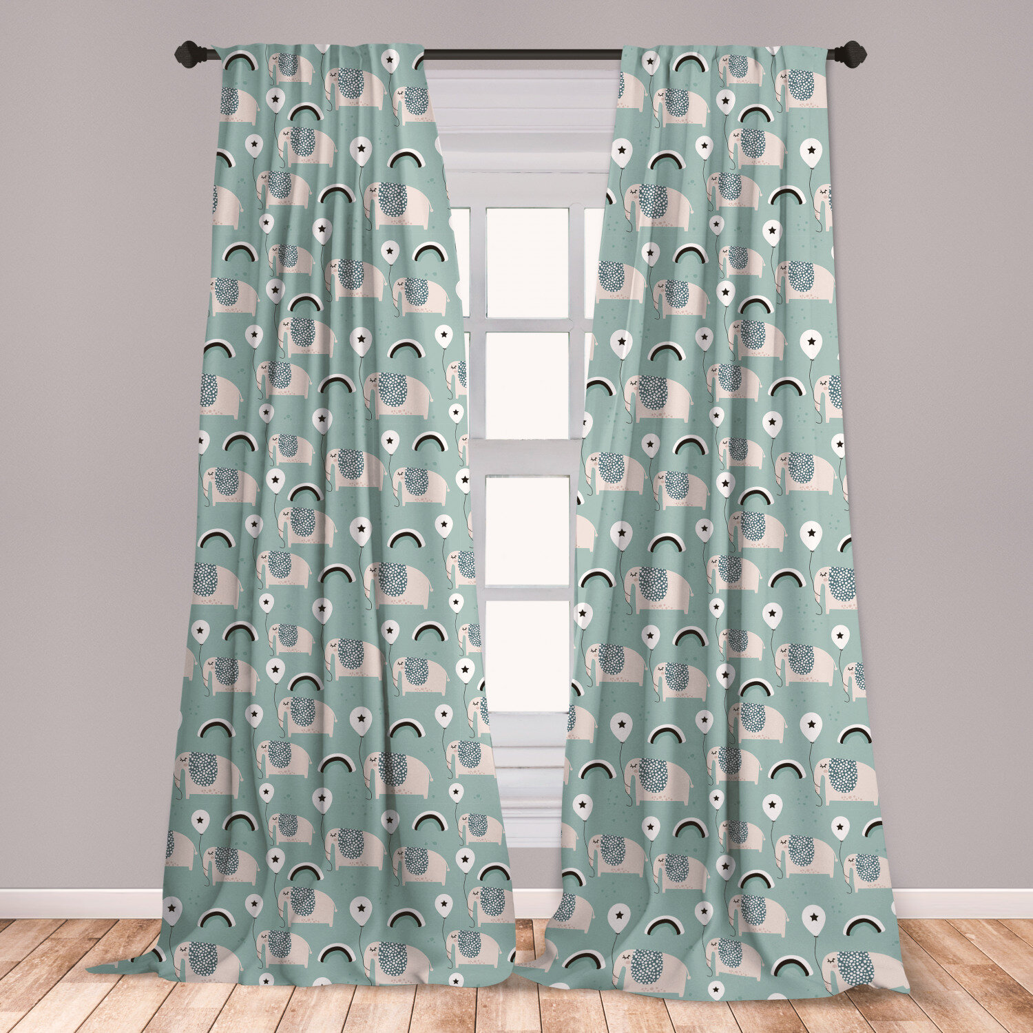 East Urban Home Elephant Room Darkening Rod Pocket Curtain Panels Wayfair