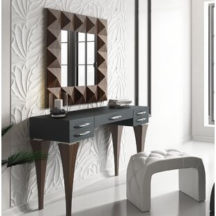 Brayden Studio Fallinerlea Bedroom Makeup Vanity Set with Mirror