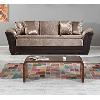 Safari Convertible Sofa Sleeper, Dropp Brown by Rosdorf Park SKU:DB493674 Details