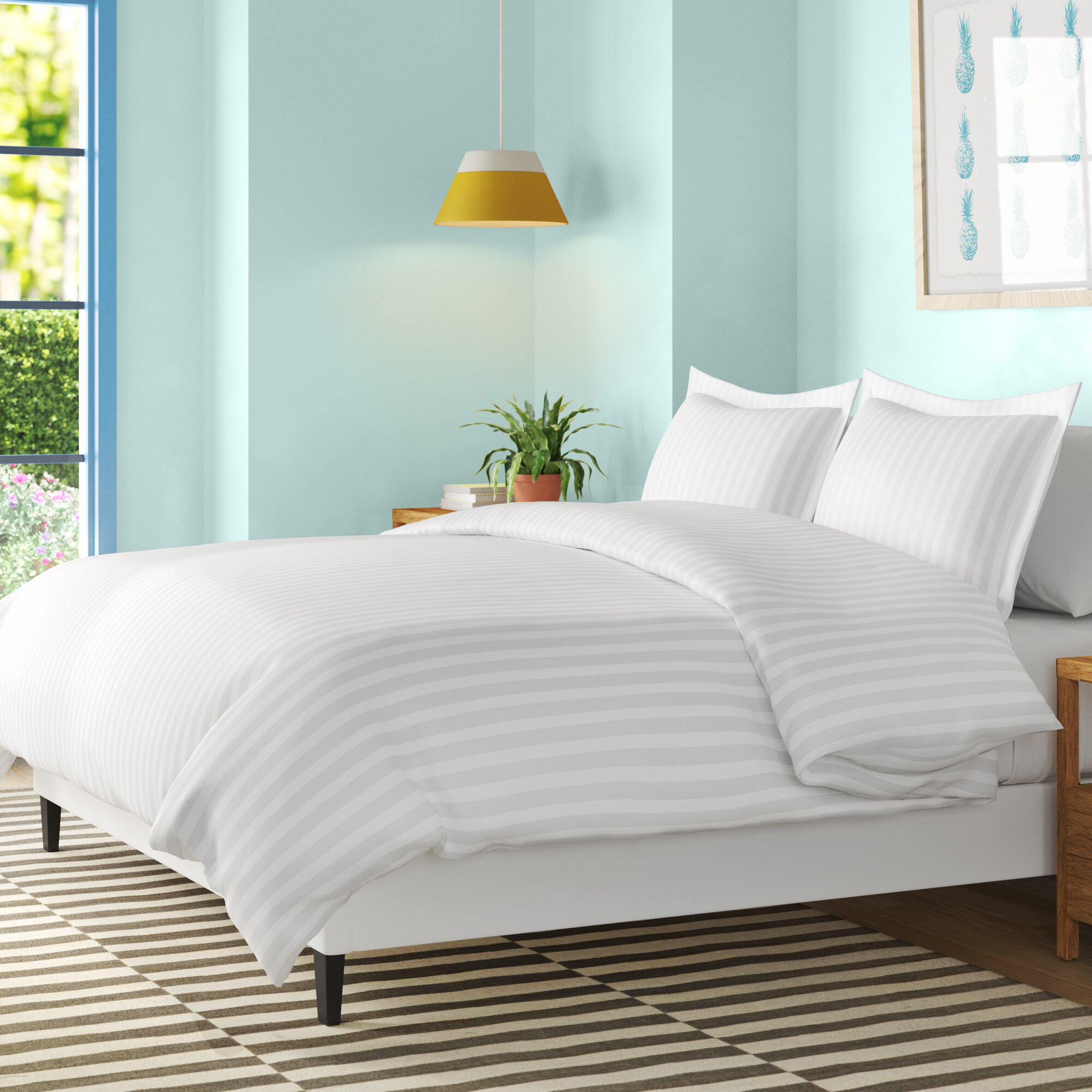 Wayfair Basics Satin Duvet Cover Set