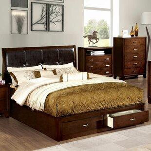 Kohan Solid Wood Upholstered Standard Bed