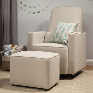 Olive Swivel Glider and Ottoman by DaVinci