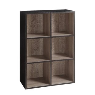 Two-Tone Organizer Cube Unit Bookcase by Rebrilliant