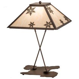 Hertford High Snowflake 28 Table Lamp