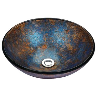 Low priced Stellar Series Glass Circular Vessel Bathroom Sink By ANZZI