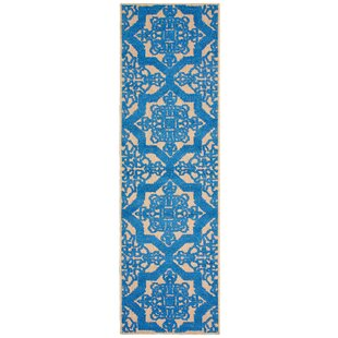 Brode Beige/Blue Indoor/Outdoor Area Rug