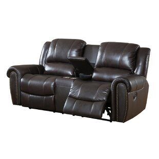 Charlotte Leather Reclining Sofa by Amax
