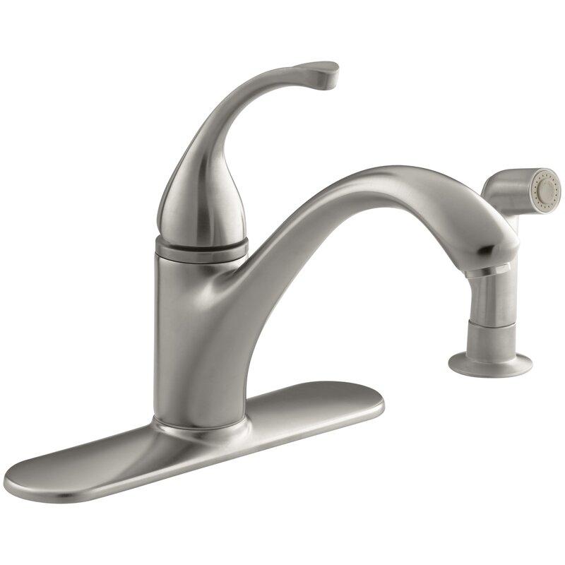 K 10412 G Bn Cp Kohler Forte 4 Hole Kitchen Sink Faucet With 9 1