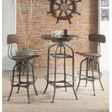 Munro Swivel Adjustable Height Bar Stool by 17 Stories
