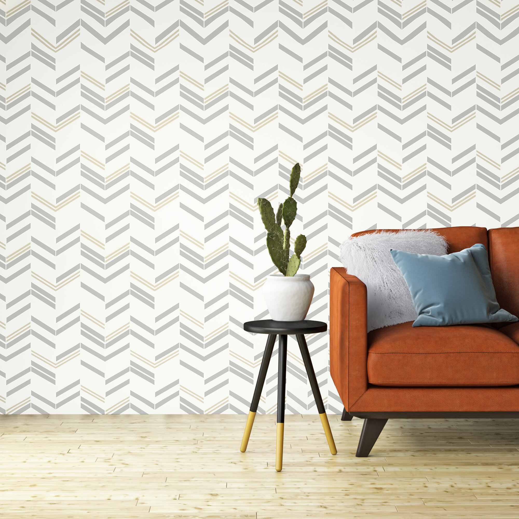 Delaware Chevron And Herringbone 16 5 L X 20 5 W Peel And Stick Wallpaper Roll Reviews Allmodern