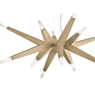 Masiero Flashwood 12-Light LED Sputnik Chandelier