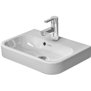 Price comparison Happy D. Ceramic 20 Wall Mount Bathroom Sink with Overflow By Duravit