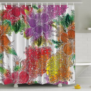 Reviews Bold Flowers Print Shower Curtain By Ambesonne