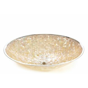 Cullens Large Laminated Mother Of Pearl Decorative Bowl