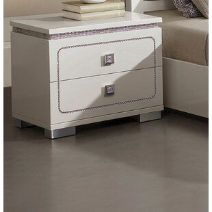 Kruse 2 Drawer Nightstand by Orren Ellis
