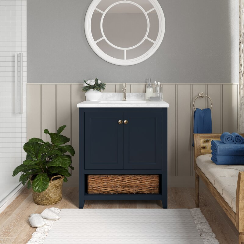 Martha Stewart Lily Pond Granary 30 Single Bathroom Vanity Set Wayfair