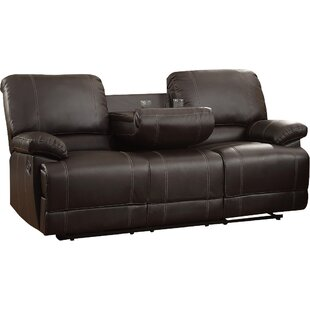 Edgar Double Reclining Sofa by Andover Mills 2019 Sale