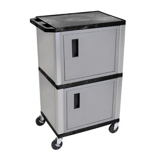 H. Wilson Company Mobile Printer Stand with Cabinet Storage